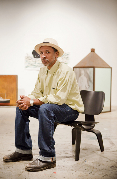 Radcliffe Bailey in his Studio